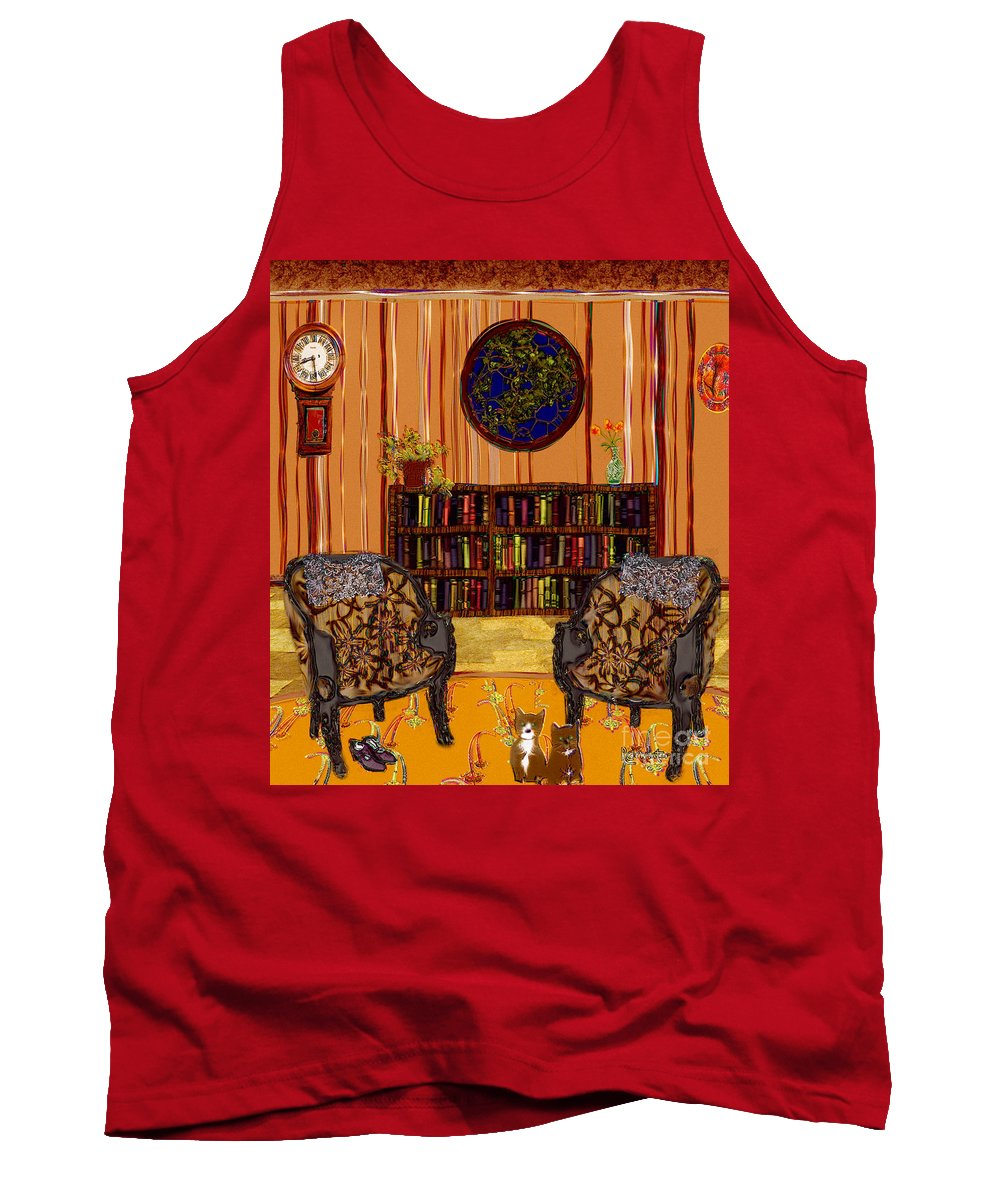 Folk Art Tank Top featuring the painting A Victorian Horror by RC DeWinter
