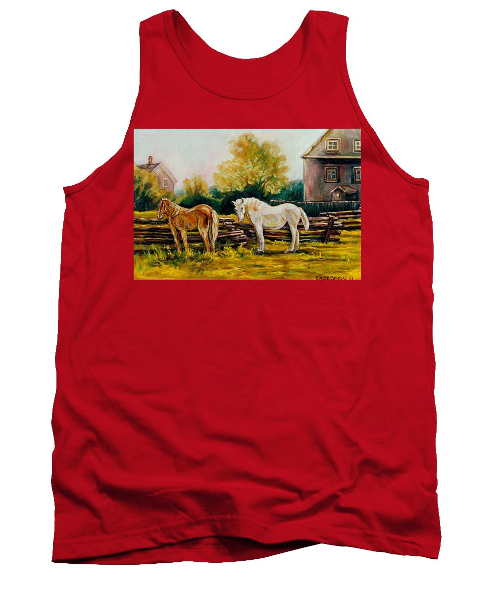 Horses Tank Top featuring the painting A Wonderful Life by Carole Spandau