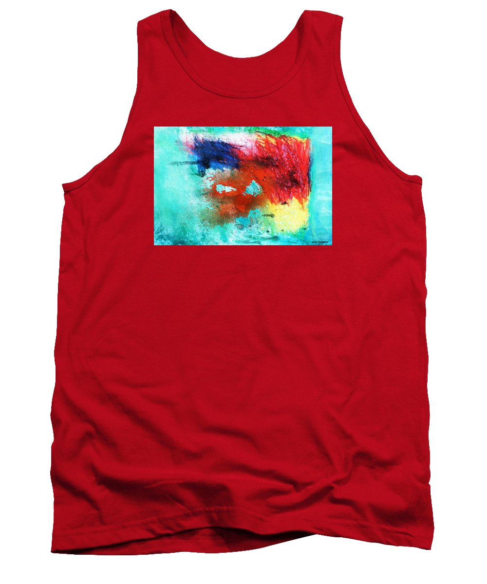 Abstract Tank Top featuring the painting Ab 152 by Paul Megens