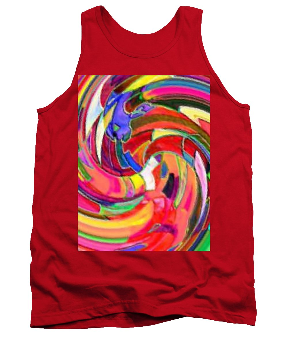 Digital Image Tank Top featuring the digital art AB by Andrew Johnson