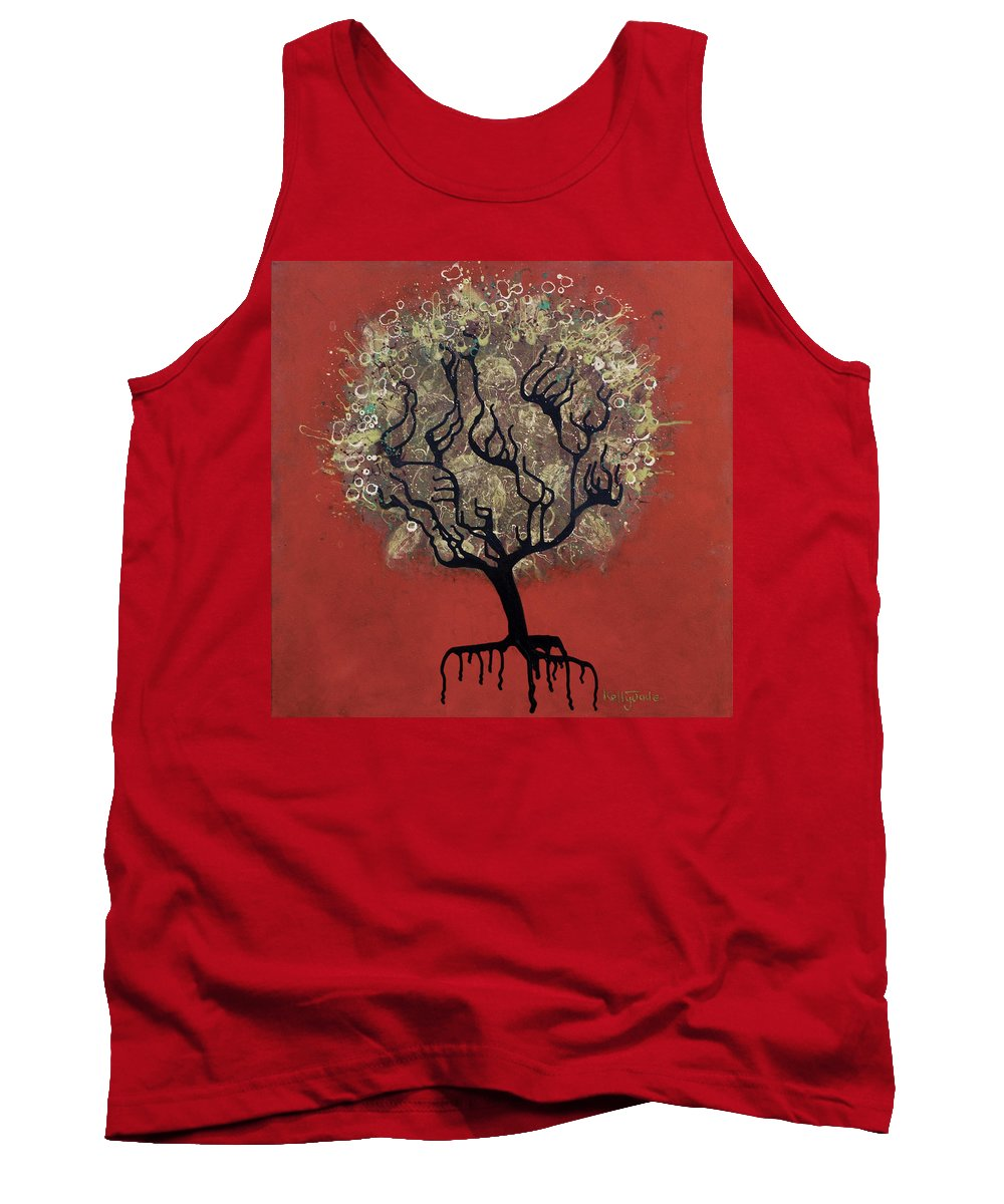 Tree Tank Top featuring the painting Abc Tree by Kelly Jade King