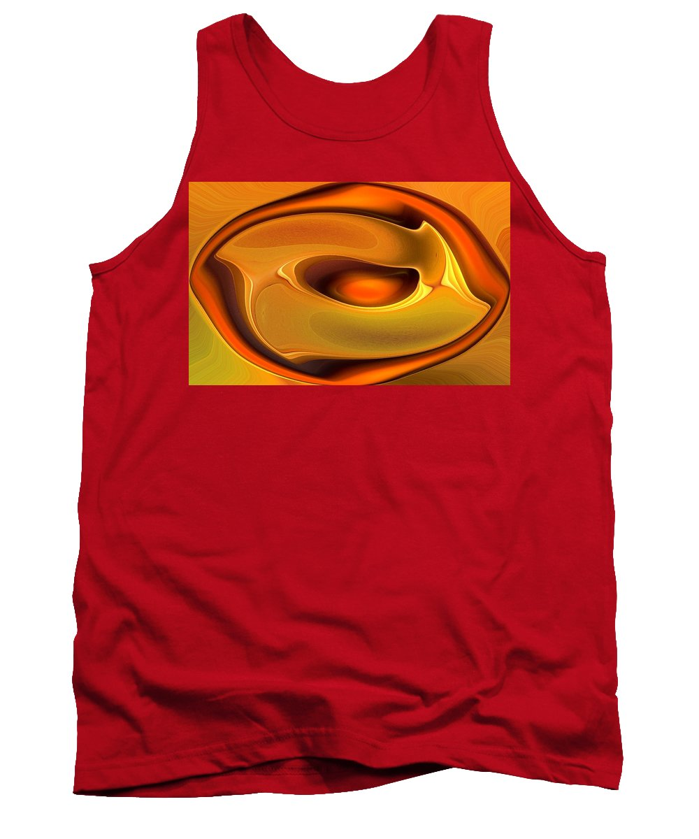 Abstract Tank Top featuring the digital art Abstrac8-15-09 by David Lane