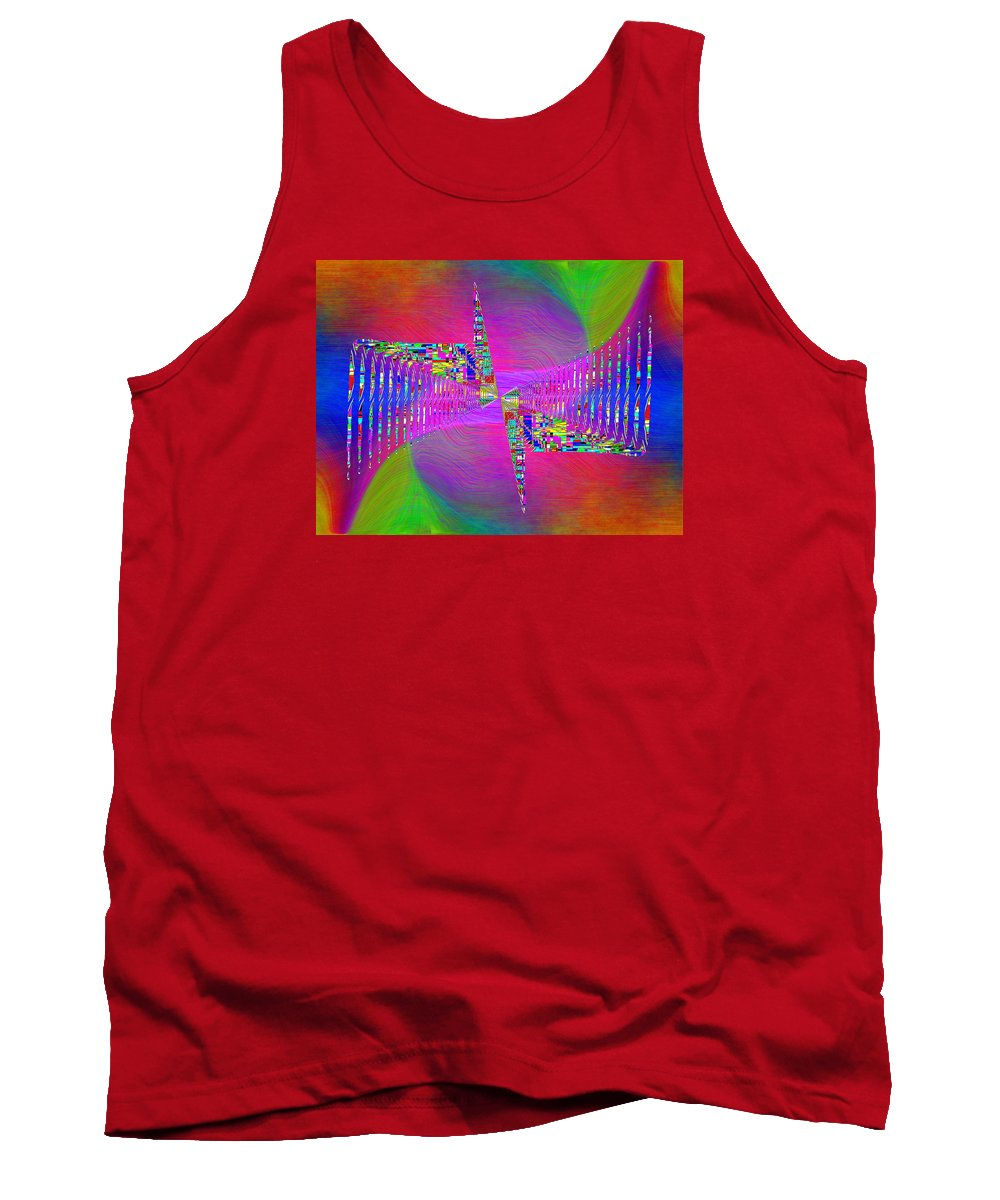 Abstract Tank Top featuring the digital art Abstract Cubed 373 by Tim Allen