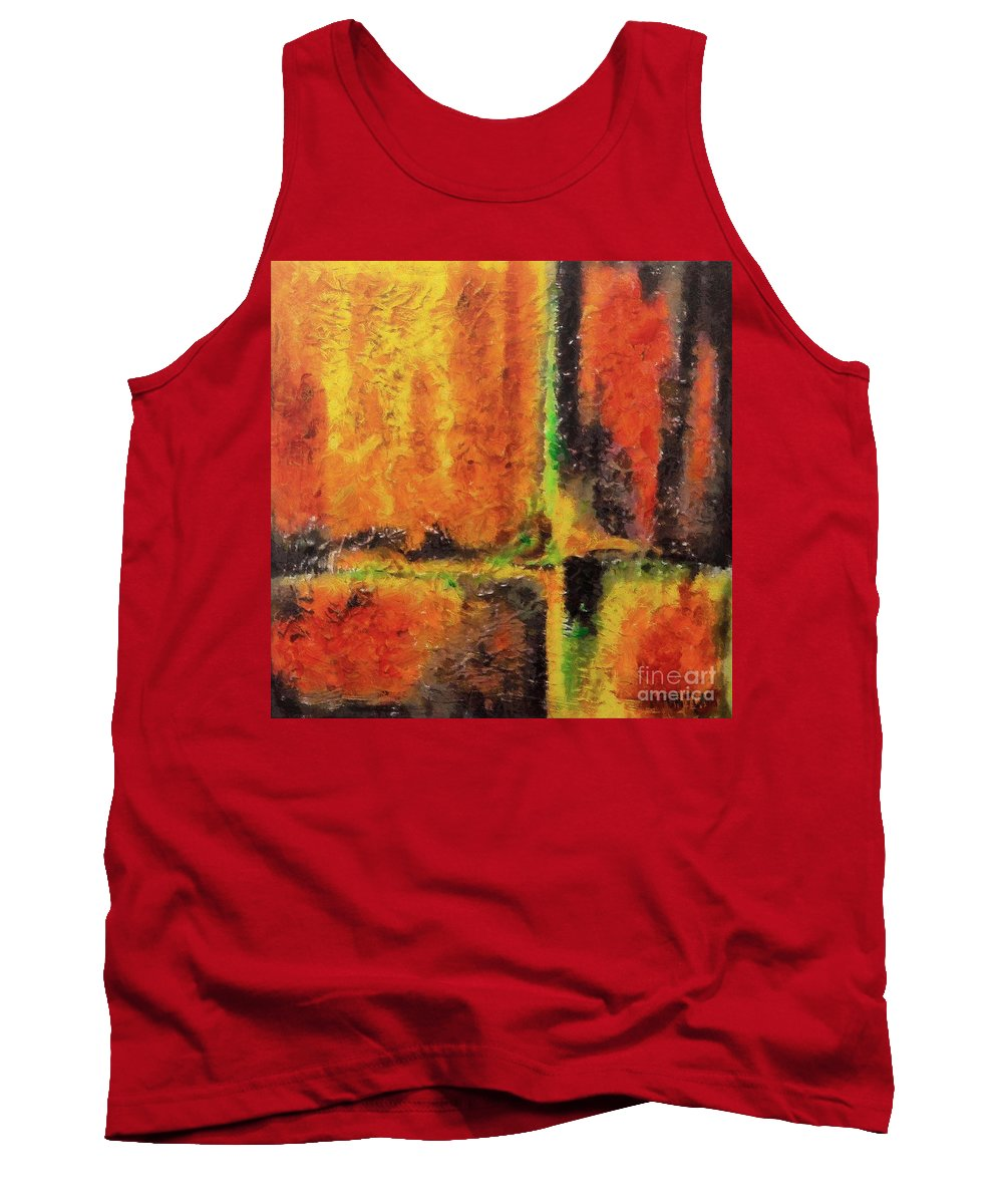 Abstract Tank Top featuring the mixed media abstract I by Dragica Micki Fortuna