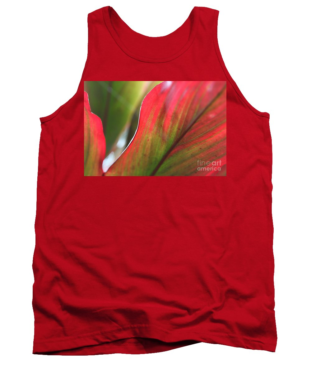 Pink Tank Top featuring the photograph Abstract Leaves by Nadine Rippelmeyer