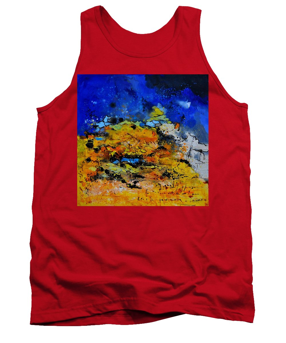 Abstract Tank Top featuring the painting Abstract by Pol Ledent