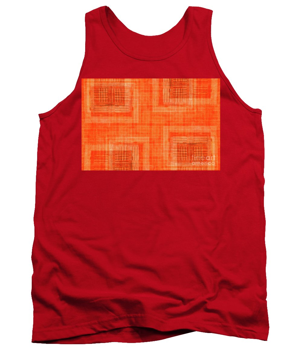 Abstract Tank Top featuring the photograph Abstract Window On Orange Wall by Silvia Ganora