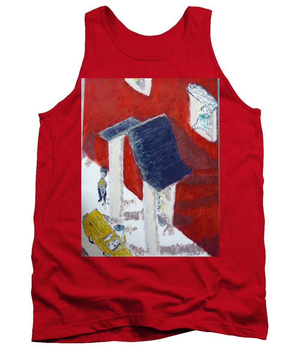 Social Realiism Tank Top featuring the painting Accessories by R B