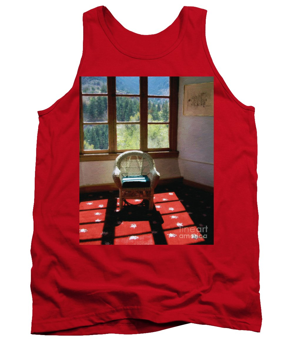 Antiques Tank Top featuring the painting Afternoon In The Solarium by RC deWinter