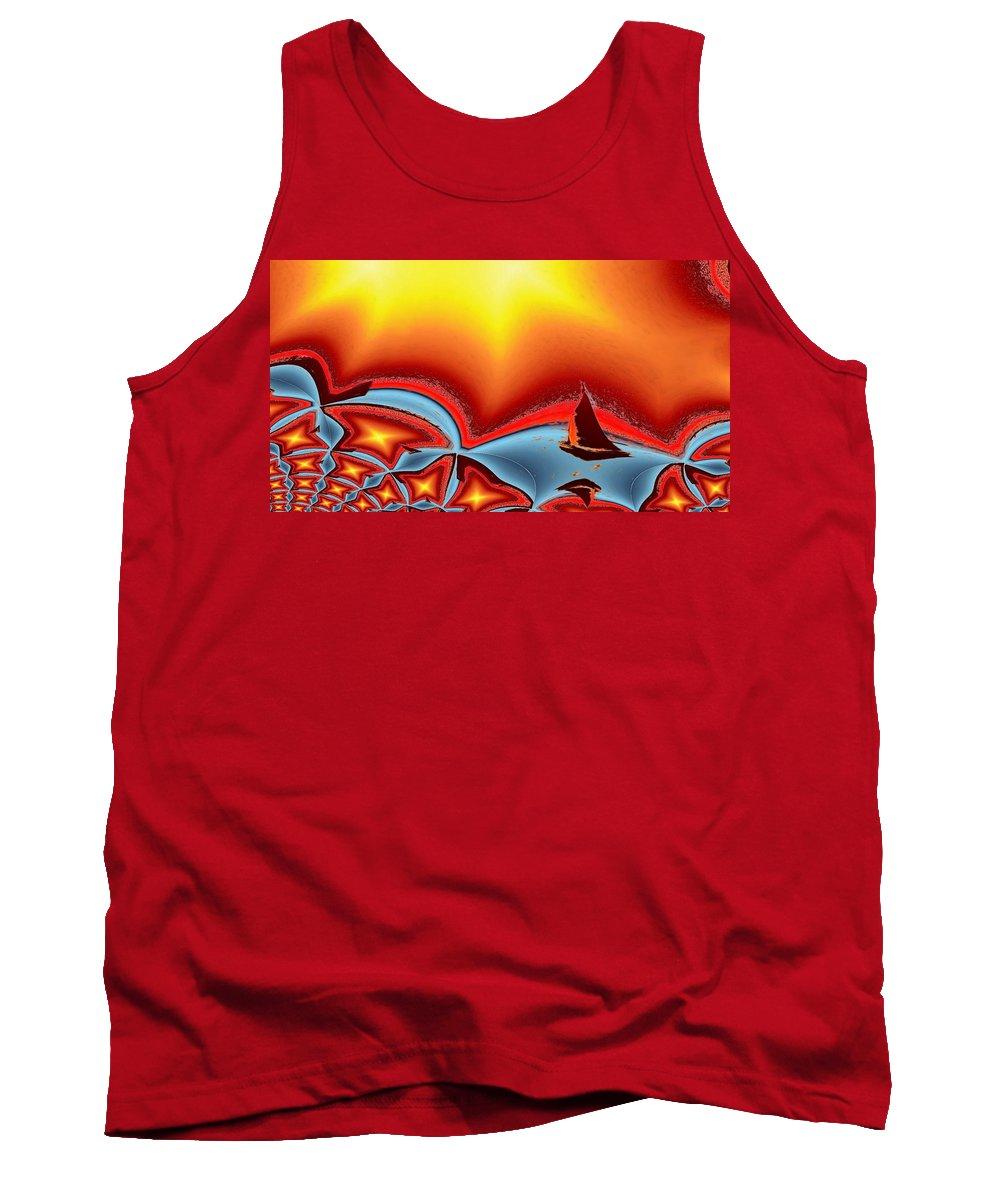 Sail Tank Top featuring the photograph Alki Sail Under The Sun 2 by Tim Allen