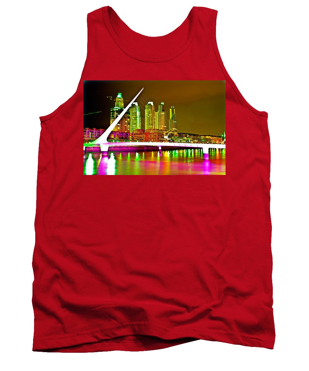 Buenos Tank Top featuring the photograph All Night Puerto Madero by Francisco Colon