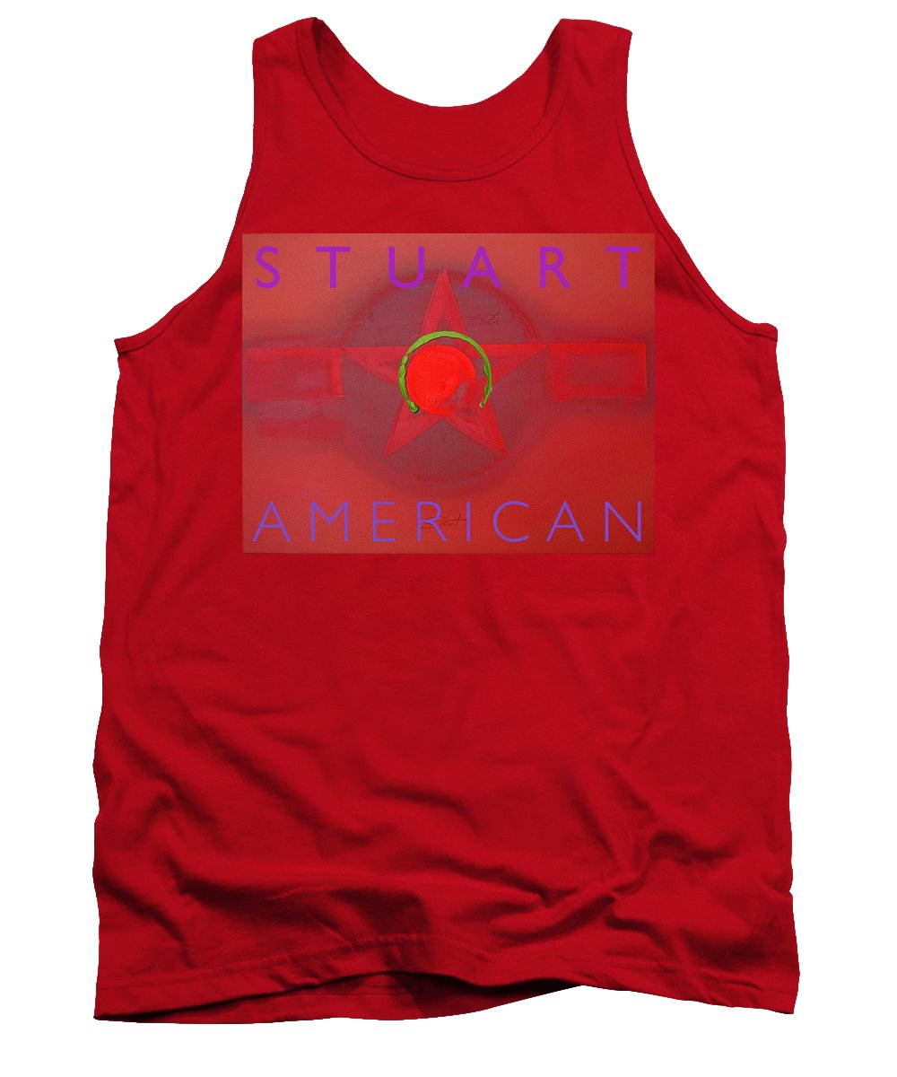 American Tank Top featuring the painting American by Charles Stuart