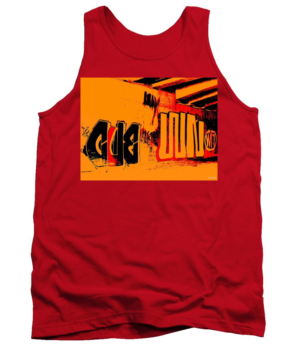 Still Life Tank Top featuring the photograph American Graffiti 3 - This Buds For You by Ed Smith