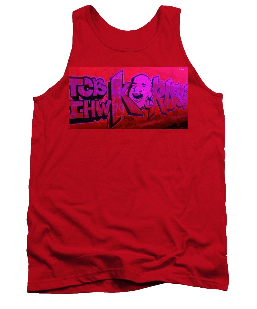 American Graffiti 7 The Star Gauger Tank Top featuring the photograph American Graffiti 7 The Star Gauger by Ed Smith