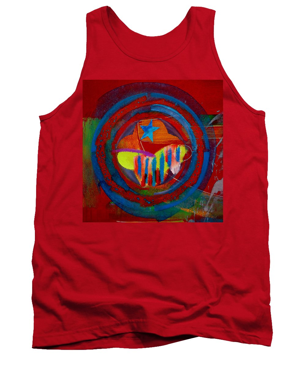 Button Tank Top featuring the painting American Pastoral by Charles Stuart