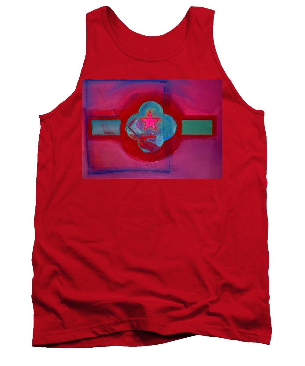 Star Tank Top featuring the painting American Spiritual Decal by Charles Stuart