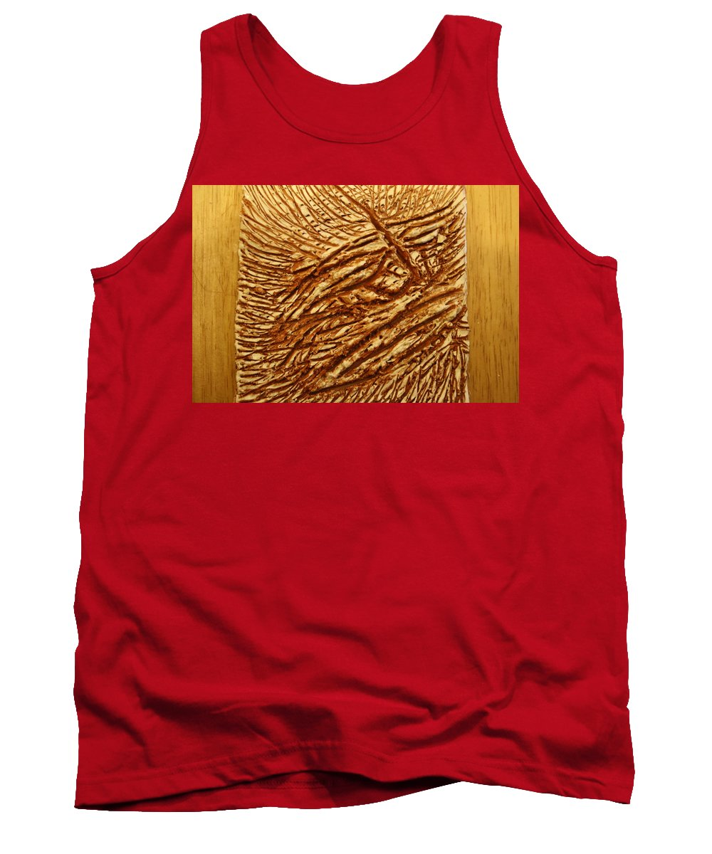 Jesus Tank Top featuring the ceramic art Ancient Thoughts - Tile by Gloria Ssali