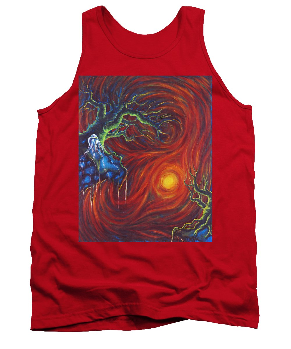 Tree Paintings Tank Top featuring the painting Anxiety by Jennifer McDuffie