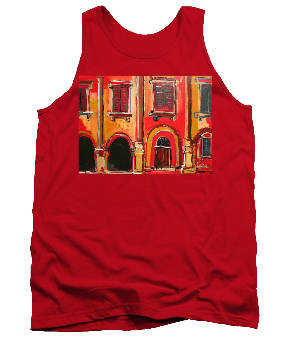 Tuscany Tank Top featuring the painting Arco Di Firenze by Kurt Hausmann