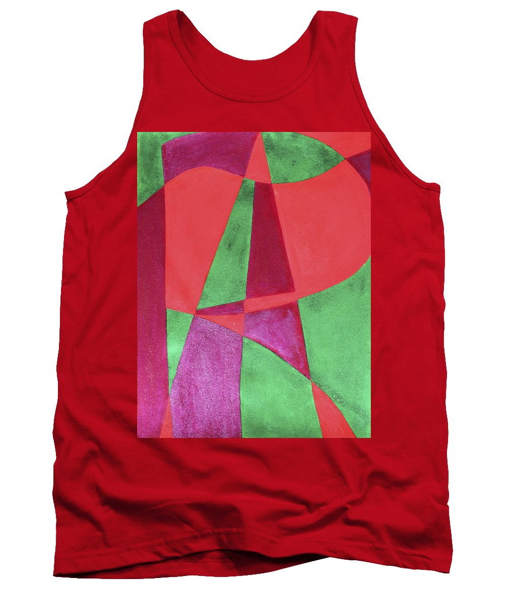 Abstract Tank Top featuring the painting Art Painted In Abstract by Lee Serenethos