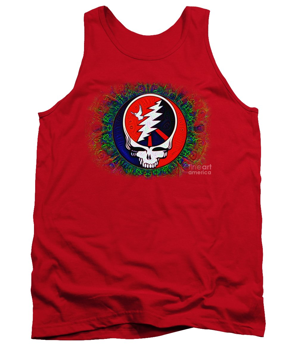 Grateful Tank Top featuring the painting Grateful Dead by Bill Cannon