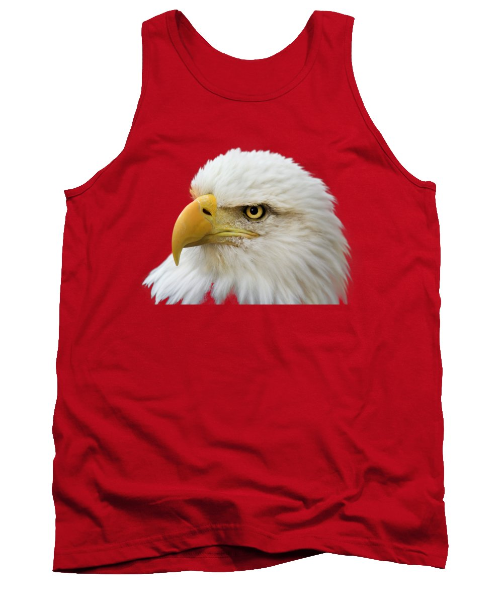 Eagle Tank Top featuring the photograph Eagle Eye by Shane Bechler