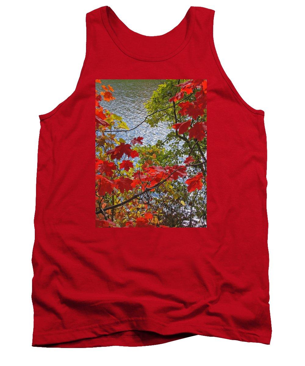 Autumn Tank Top featuring the photograph Autumn Lake by Ann Horn