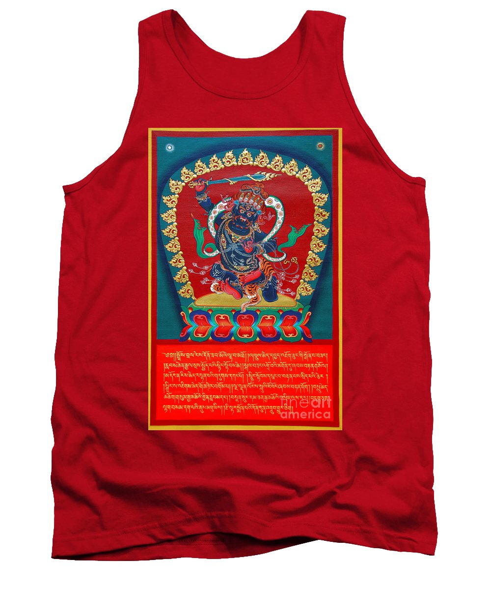 Tank Top featuring the painting Arya Achala - Immovable One - Center Image by Sergey Noskov
