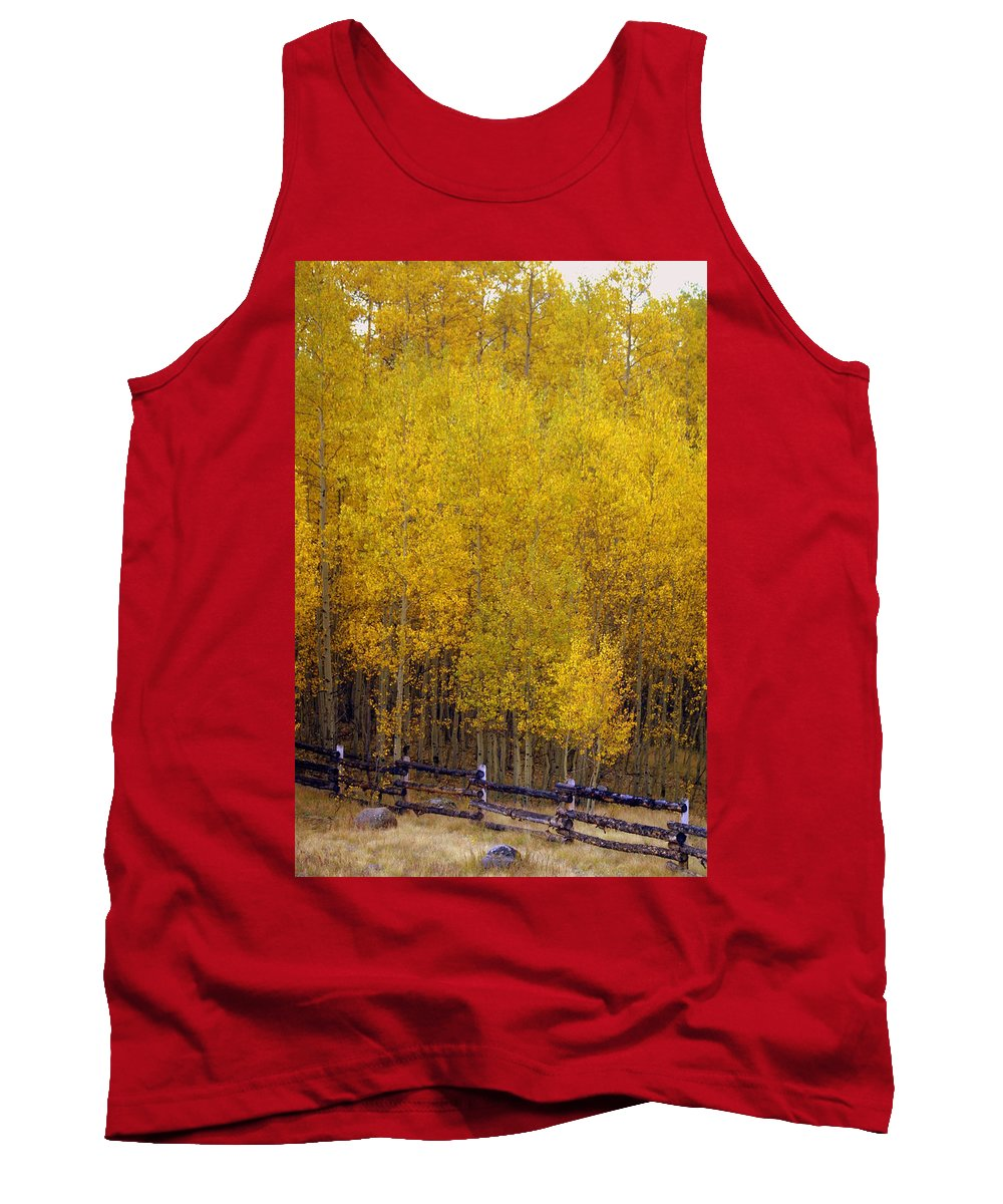 Fall Colors Tank Top featuring the photograph Aspen Fall 2 by Marty Koch