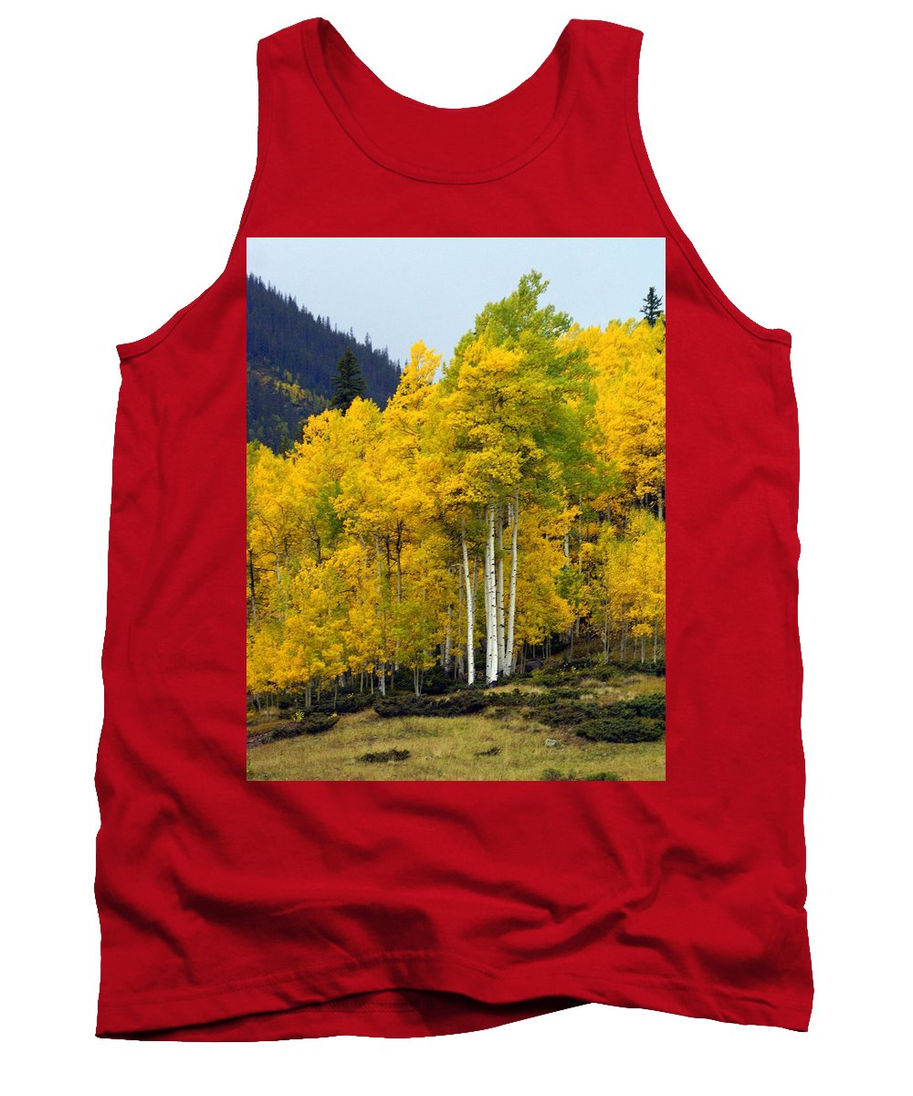 Fall Colors Tank Top featuring the photograph Aspen Fall 3 by Marty Koch