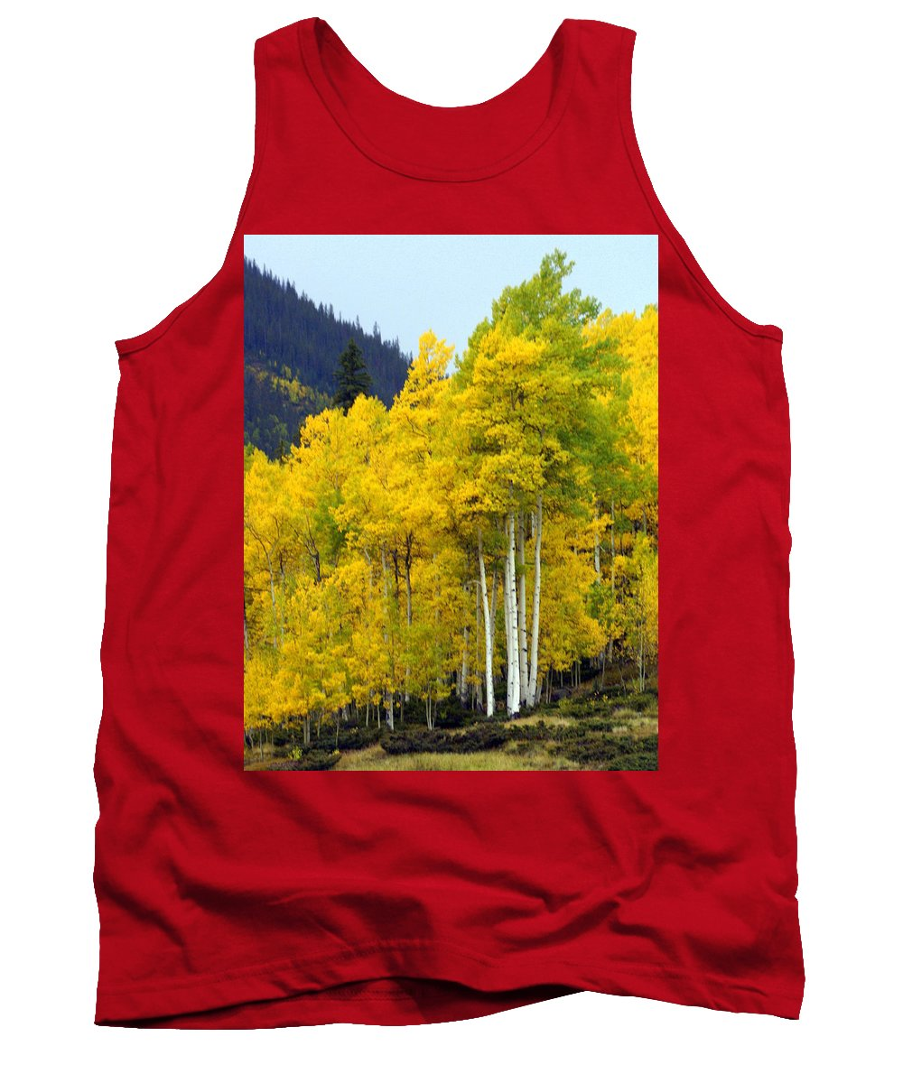 Fall Colors Tank Top featuring the photograph Aspen Fall by Marty Koch