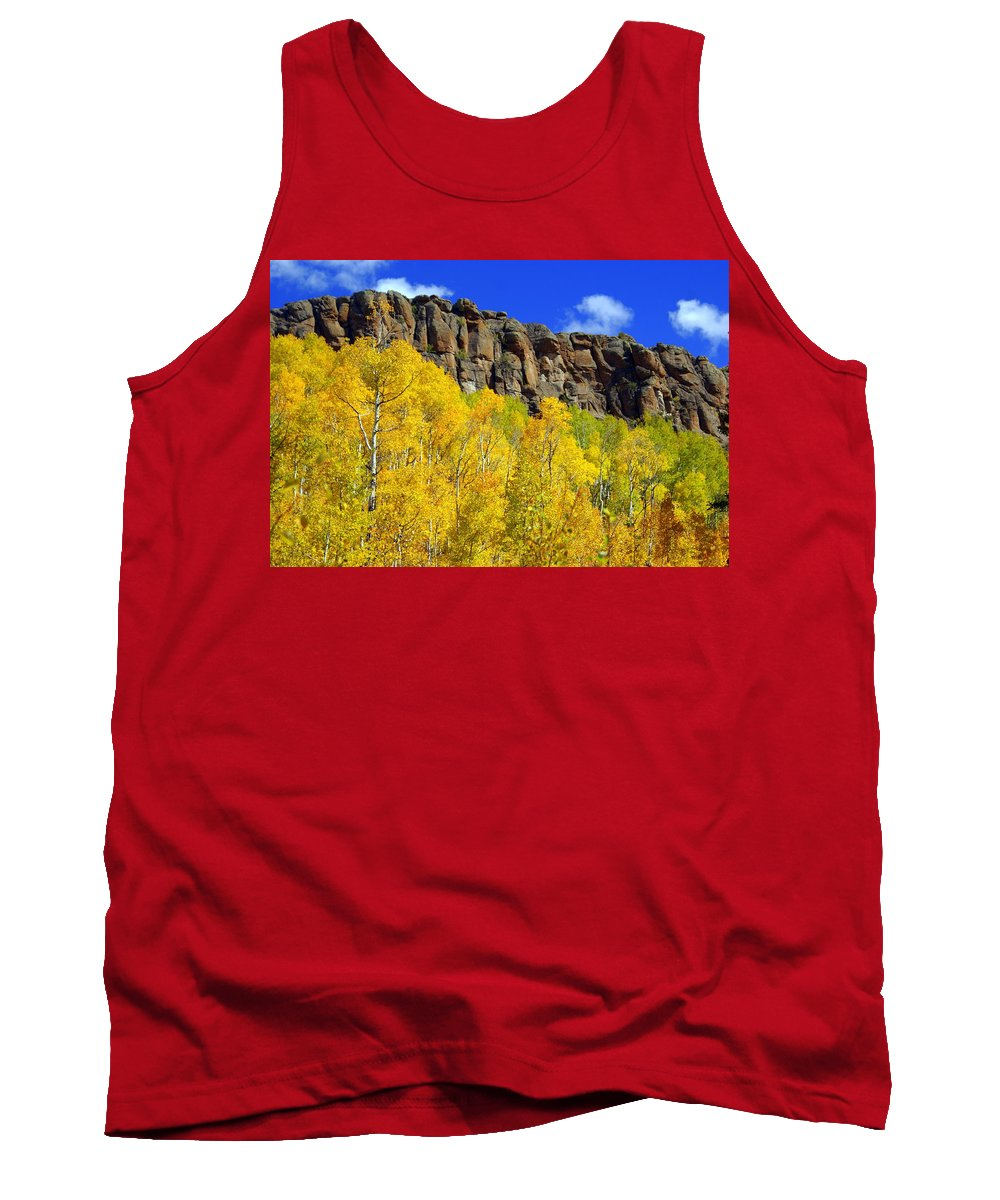 Fall Colors Tank Top featuring the photograph Aspen Glory by Marty Koch