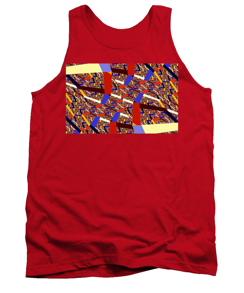 Clay Tank Top featuring the digital art Atomic Link by Clayton Bruster