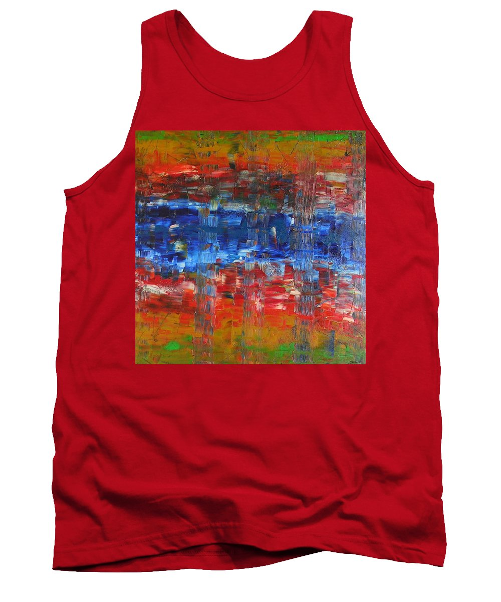 Contemporary Tank Top featuring the painting Attitude by Dawn Hough Sebaugh