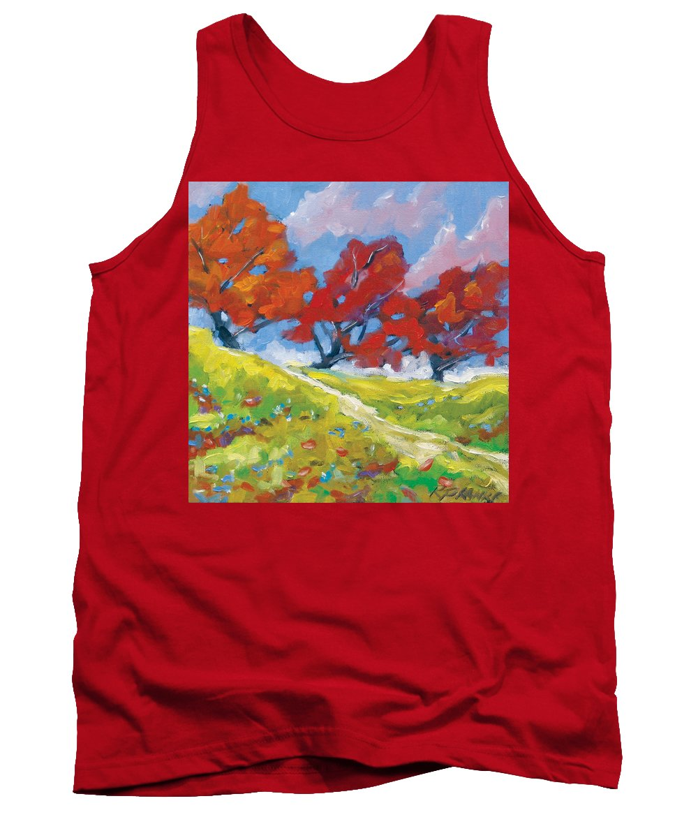 Art Tank Top featuring the painting Automn Trees by Richard T Pranke