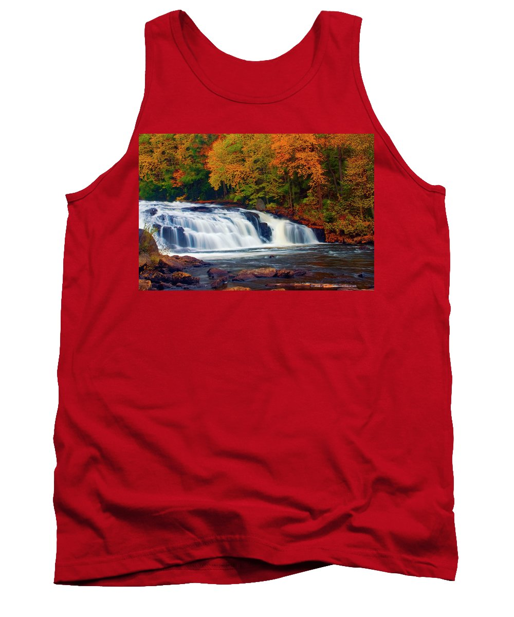 Buttermilk Falls Tank Top featuring the photograph Autumn At Buttermilk Falls by Tony Beaver