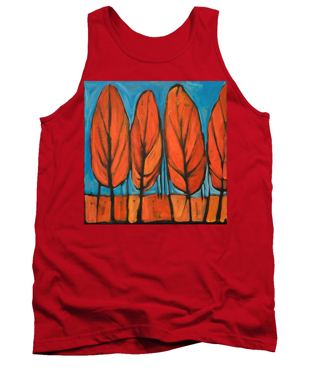 Fall Tank Top featuring the painting Autumn Dance by Tim Nyberg