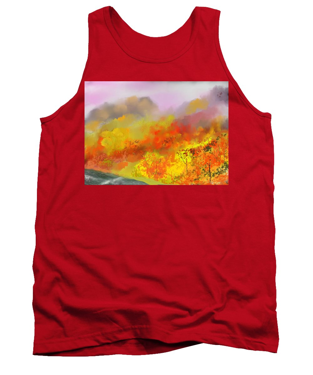 Autumn Tank Top featuring the digital art Autumn Expression by David Lane