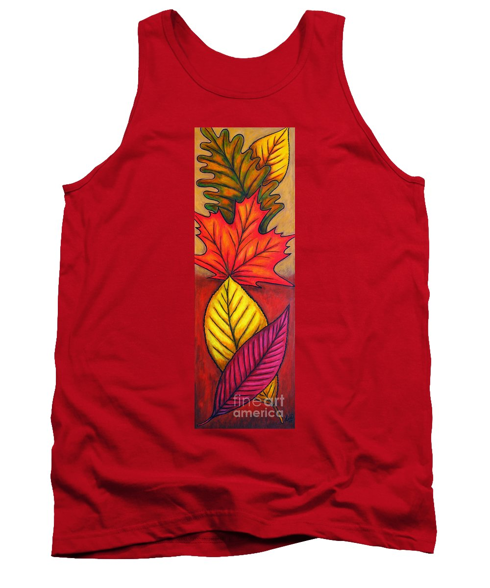 Autumn Tank Top featuring the painting Autumn Glow by Lisa Lorenz