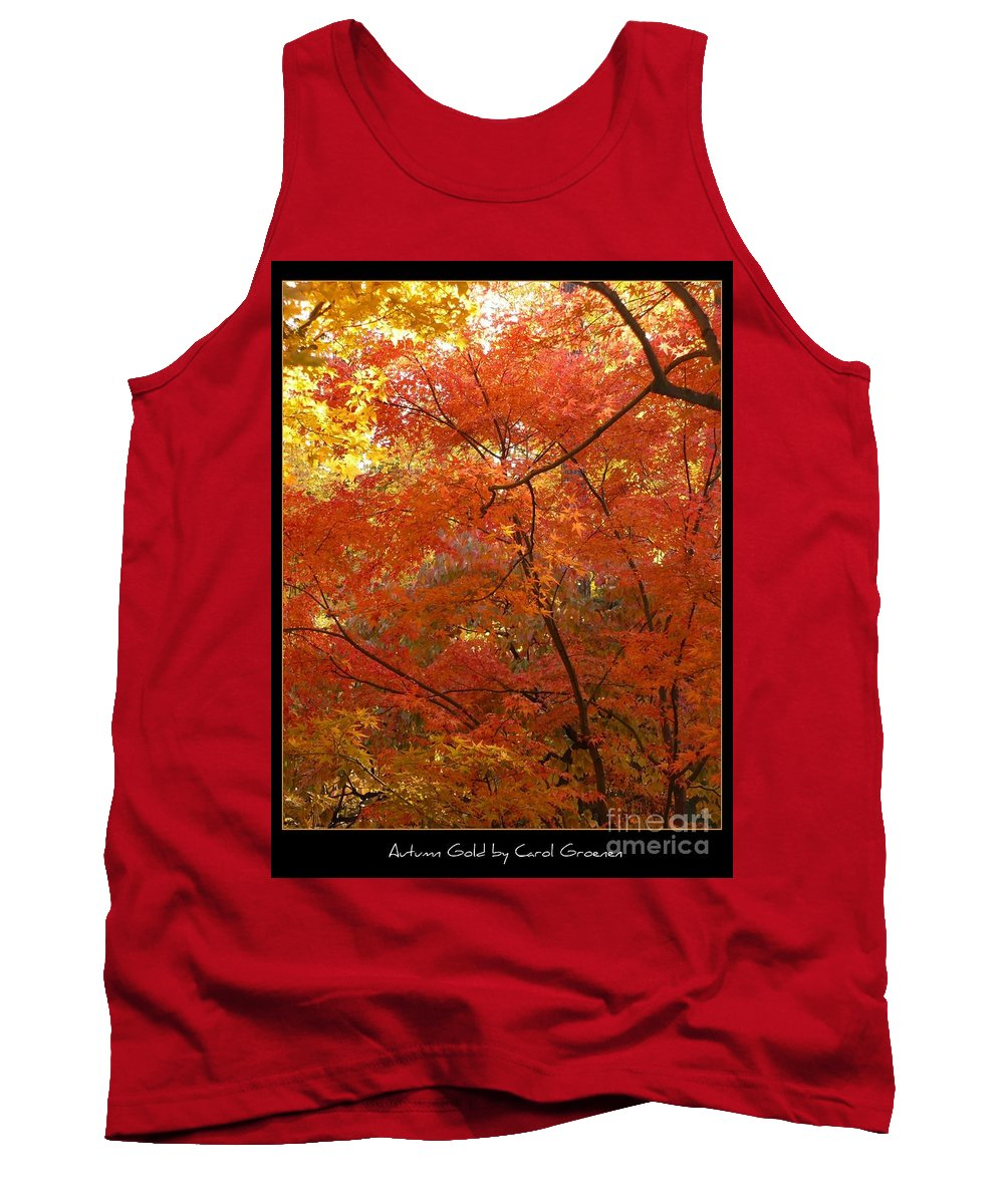 Fall Tank Top featuring the photograph Autumn Gold Poster by Carol Groenen