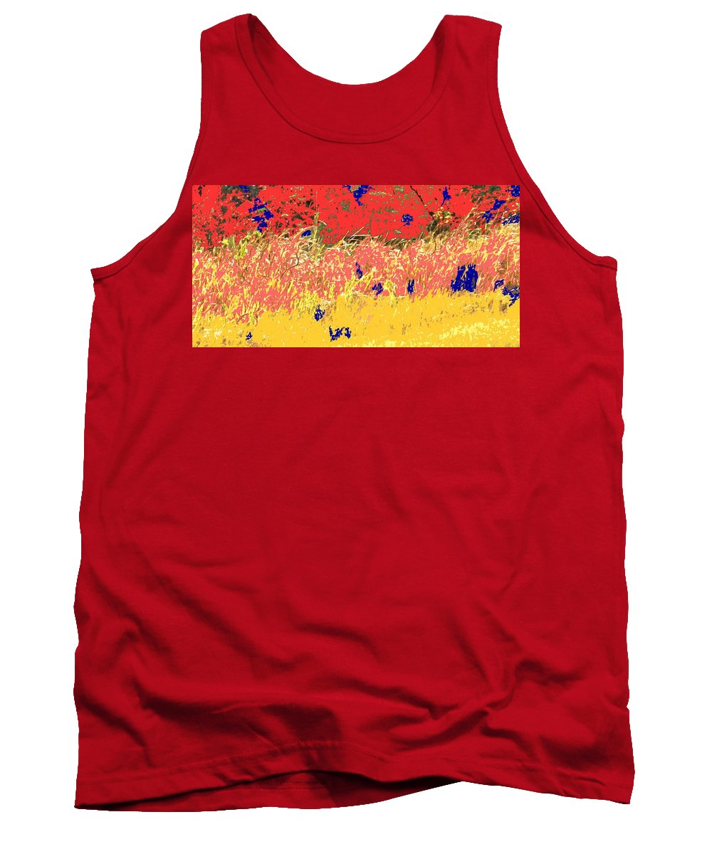 Autumn Tank Top featuring the photograph Autumn Grasses by Ian MacDonald
