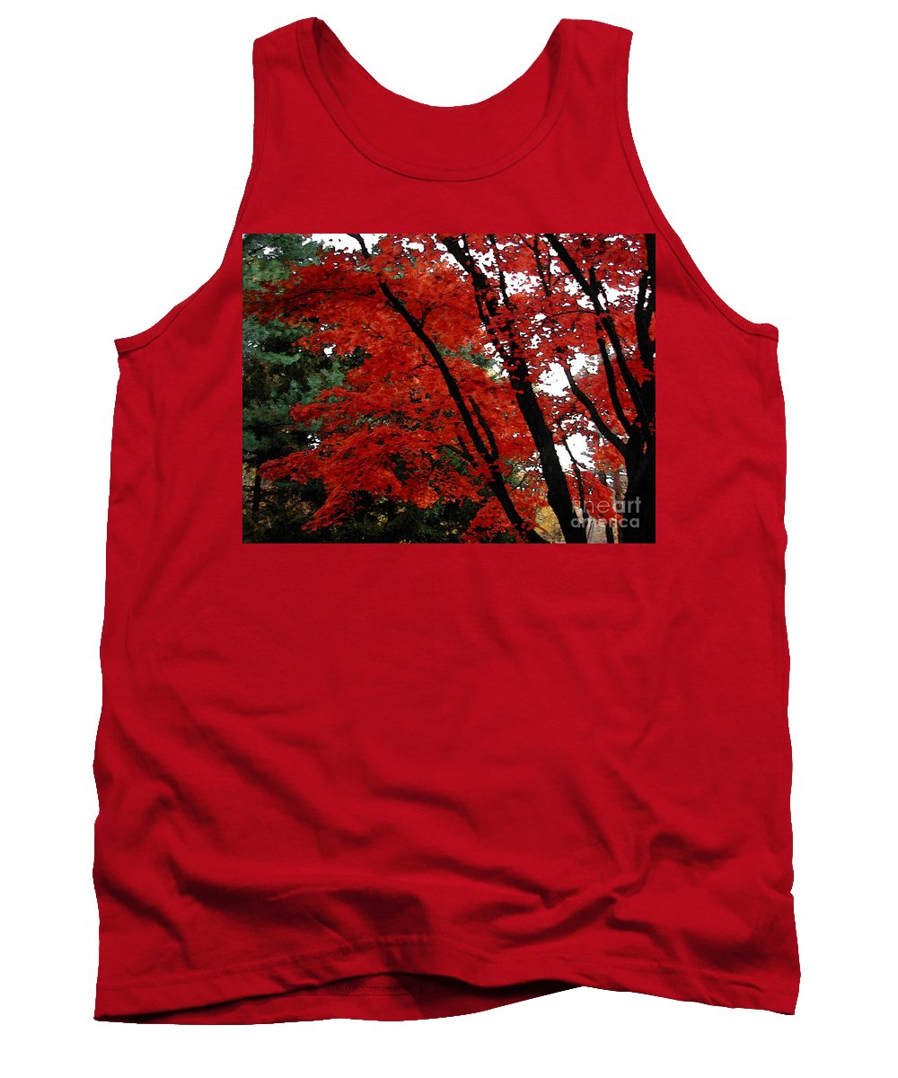 Autumn Tank Top featuring the photograph Autumn In New England by Melissa A Benson