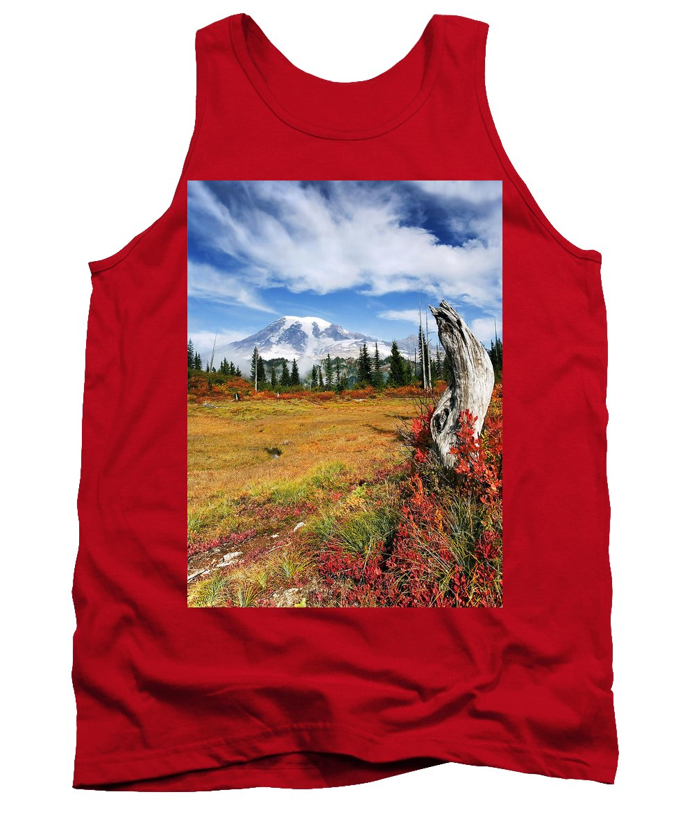 Rainier Tank Top featuring the photograph Autumn Majesty by Mike Dawson