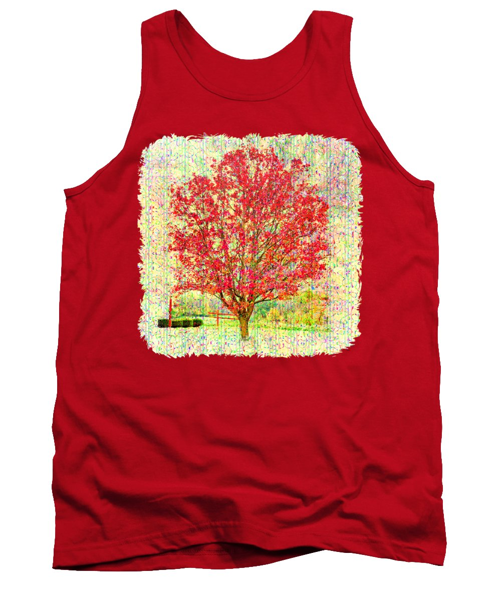 Tree Tank Top featuring the photograph Autumn Musings 2 by John M Bailey