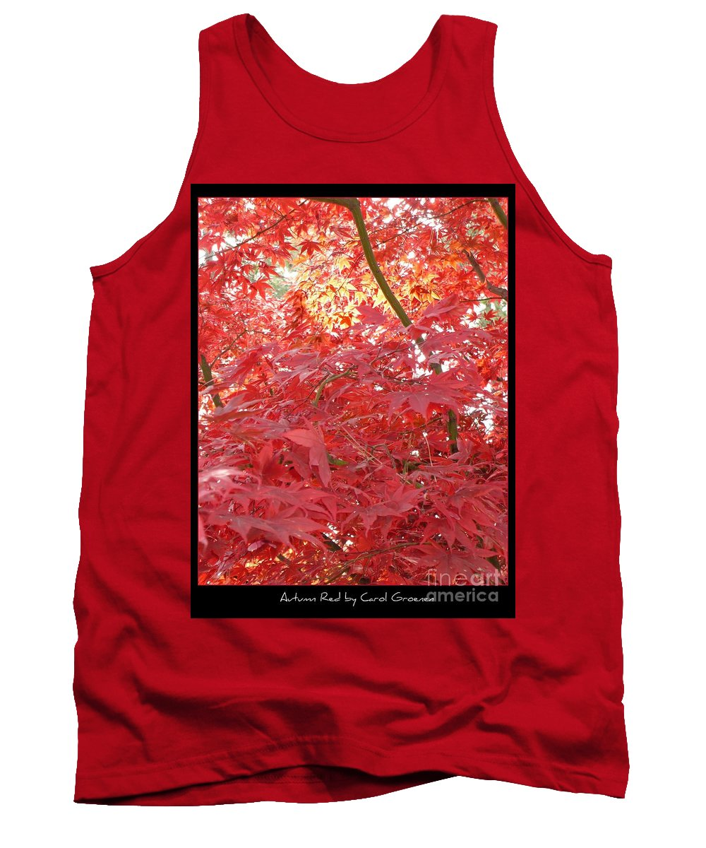 Autumn Tank Top featuring the photograph Autumn Red Poster by Carol Groenen