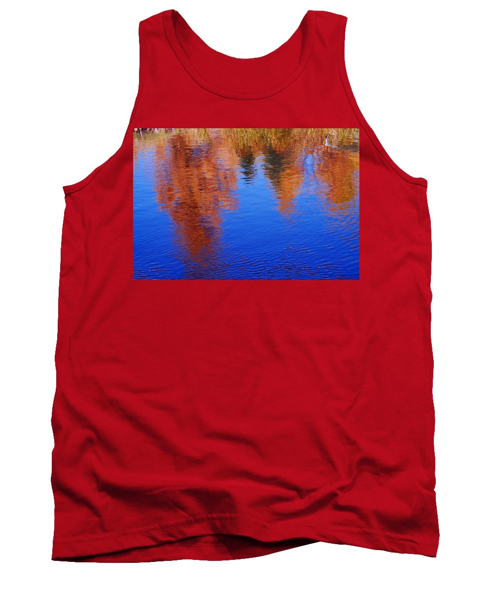 Prince Albert National Park Tank Top featuring the photograph Autumn Reflection by Larry Ricker