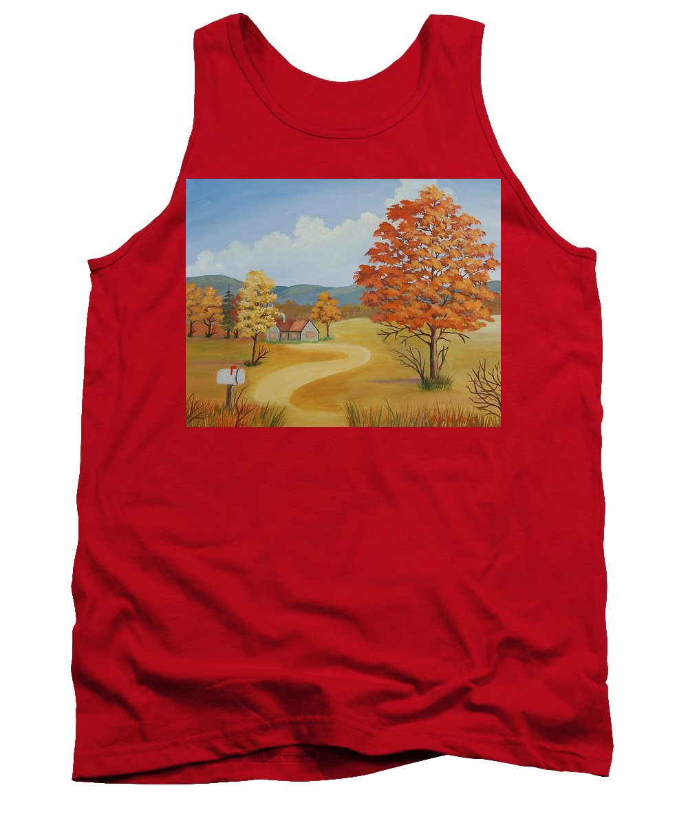 Landscape Tank Top featuring the painting Autumn Season by Ruth Housley