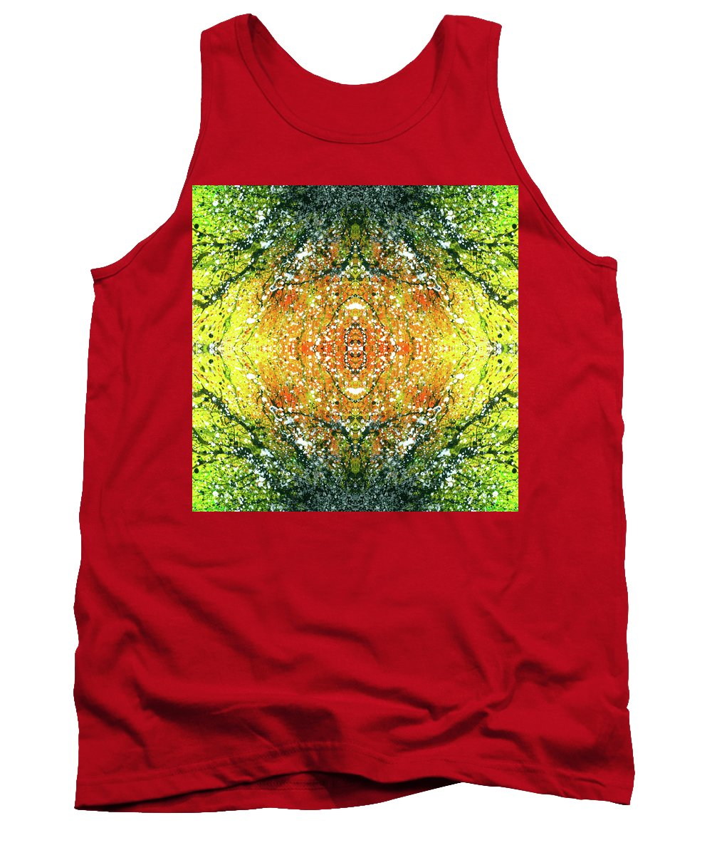 Abstract Tank Top featuring the mixed media Awakened For Higher Perspective #1425 by Rainbow Artist Orlando L