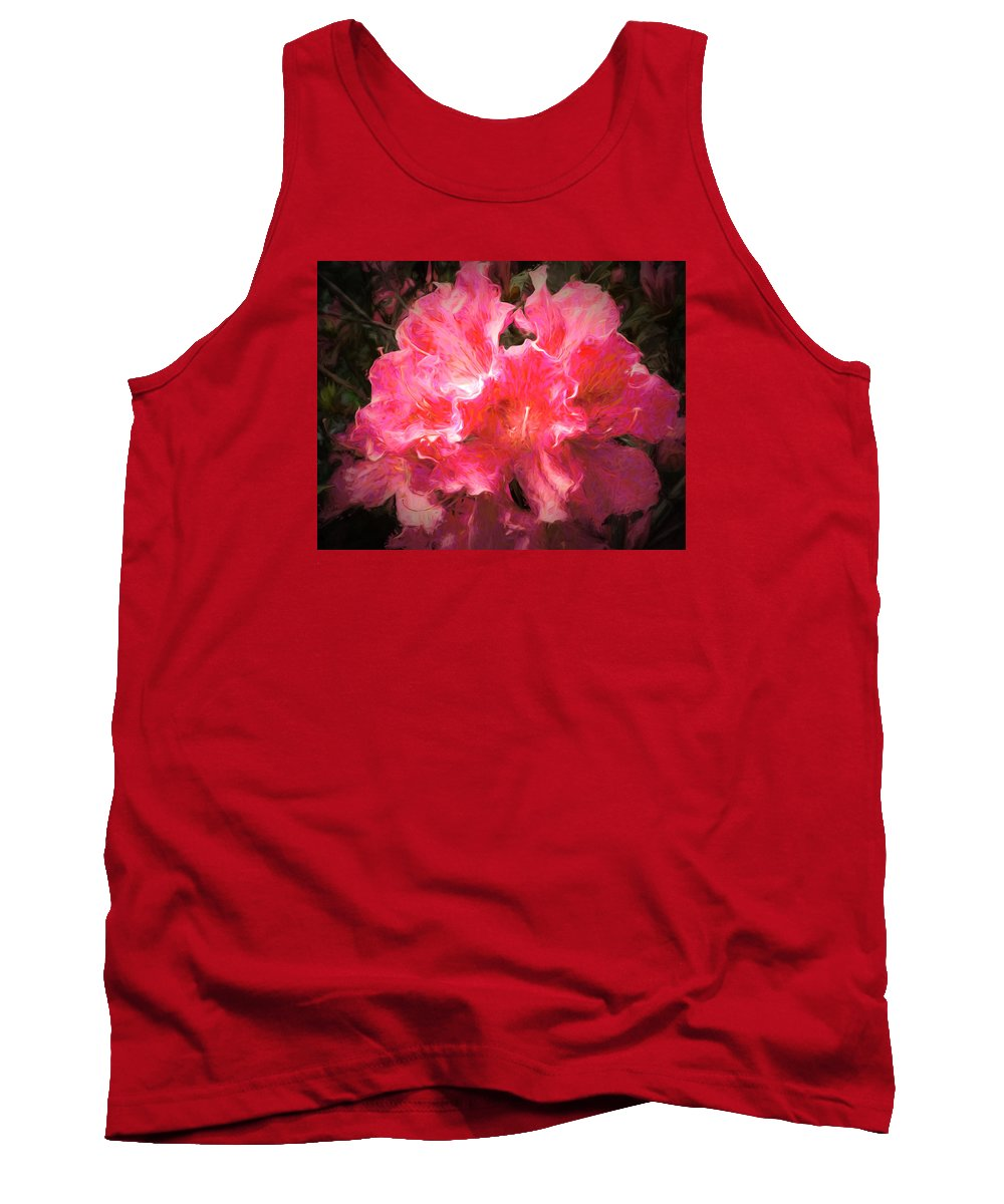 Flower Tank Top featuring the photograph Azaleas 10 by Michael Schwartzberg