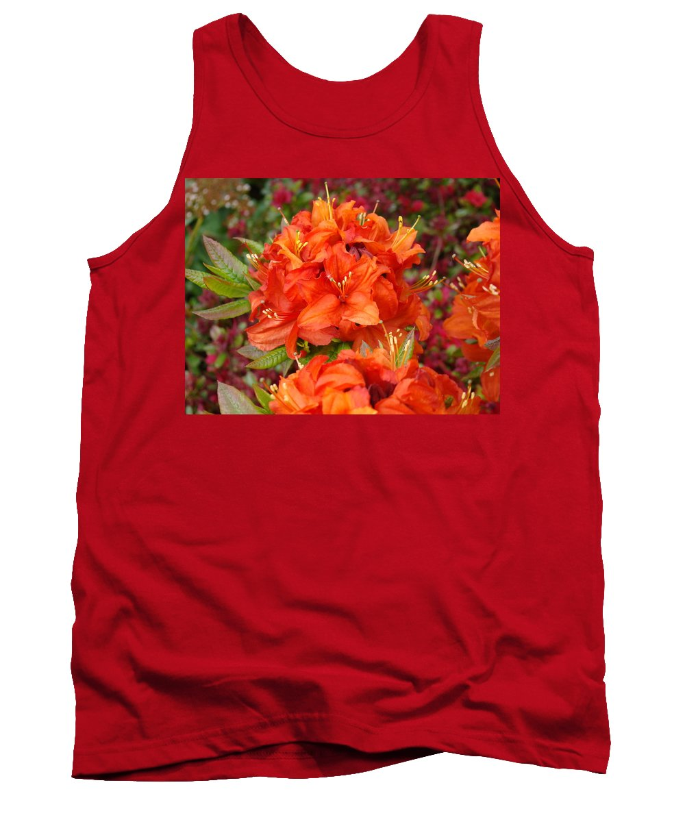 Azalea Tank Top featuring the photograph Azaleas Rhodies Art Prints Azalea Flowers Giclee Baslee Troutman by Baslee Troutman